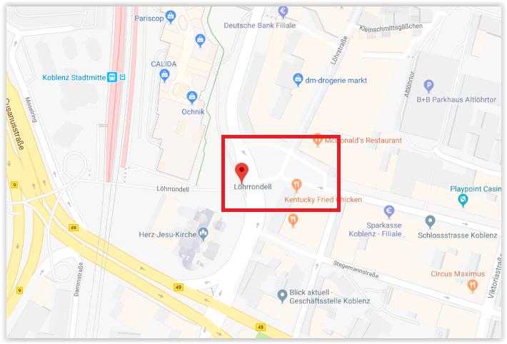 Karte Koblenz.Koblenz Löhrrondell Neu Karte Kuschelhimmel Lass Dich Halten