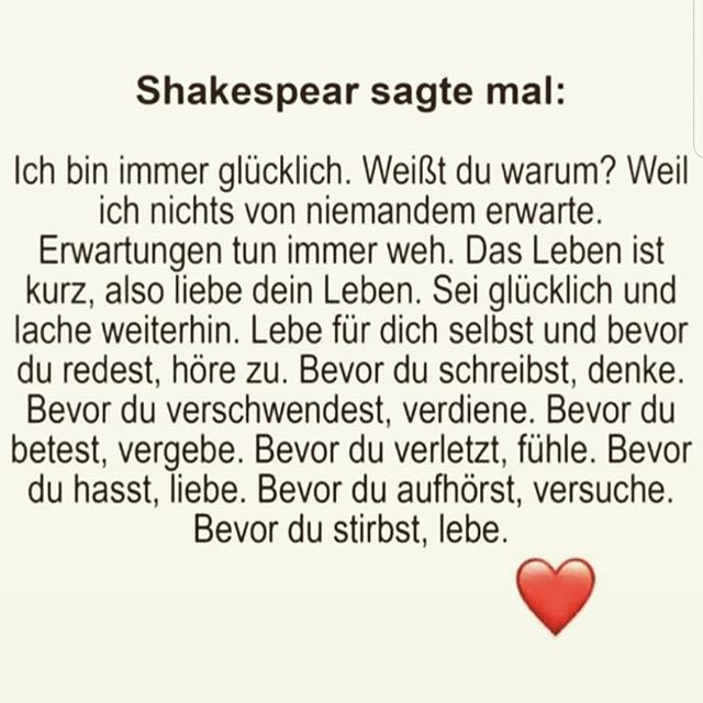 Shakespeare ich fühle mich immer glücklich